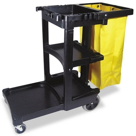 Rubbermaid Commercial Multi-Shelf Cleaning Cart (617388BK)